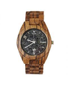 Armbanduhr aus Holz mit Ziffernblatt aus Granit unisex diverse Farben