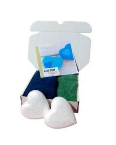 Auszeitbox Von Herz zu Herz filzen DIY blau