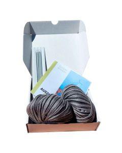 Auszeitbox Socken stricken DIY grautöne