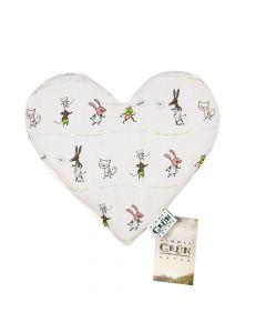 Baby Herzen - Liebe Viecher Kräuterkissen mit Hülle 25x23cm