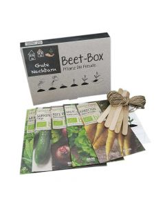 Bio Beet Box - Gute Nachbarn - Saatgut Set inklusive Pflanzkalender und Zubehör