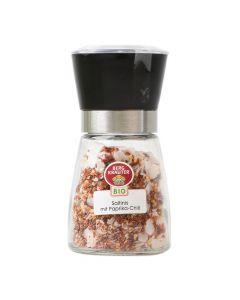 Bio Gewürzmühle Saltinis mit Paprika Chili 120g