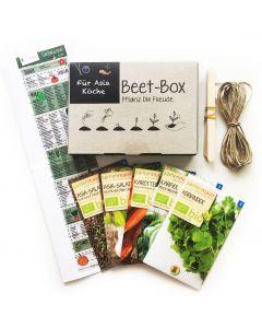 Bio Beet Box - Für Asia Köche - Saatgut Set inklusive Pflanzkalender und Zubehör