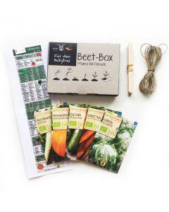 Bio Beet Box - Für den Babybrei - Saatgut Set inklusive Pflanzkalender und Zubehör
