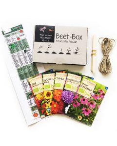 Bio Beet Box - Für einen Blumengruß - Saatgut Set inklusive Pflanzkalender und Zubehör
