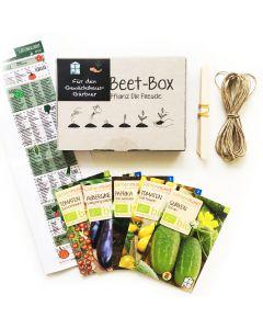 Bio Beet Box - Für den Gewächshaus Gärtner - Saatgut Set inklusive Pflanzkalender und Zubehör