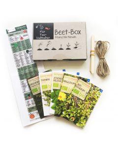 Bio Beet Box - Für Teeliebhaber - Saatgut Set inklusive Pflanzkalender und Zubehör