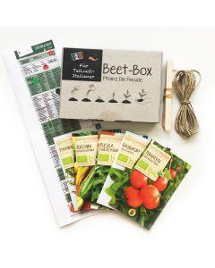 Bio Beet Box - Für Teilzeit Italiener - Saatgut Set inklusive Pflanzkalender und Zubehör