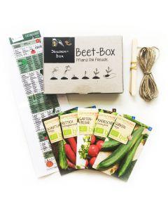 Bio Beet Box - Jausenbox - Saatgut Set inklusive Pflanzkalender und Zubehör
