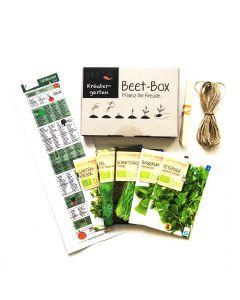 Bio Beet Box - Kräutergarten - Saatgut Set inklusive Pflanzkalender und Zubehör