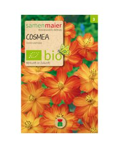 Bio Cosmea - Schmuckkörbchen orange  - Saatgut für zirka 15 Pflanzen