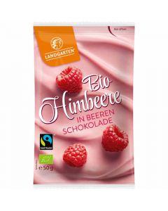 Bio Himbeere in Beeren Schokolade 50g