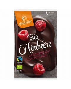 Bio Himbeere in Zartbitter Schokolade 50g