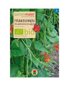 Bio Prunkbohnen - Feuerbohne Lady Di - Saatgut für zirka 10 Pflanzen