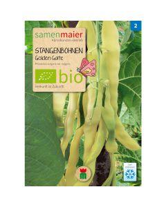 Bio Stangenbohnen Golden Gate - Saatgut für zirka 25 Pflanzen