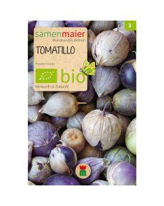 Bio Tomatillo Mischung violett weiß - Saatgut für zirka 15 Pflanzen
