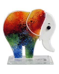Deko Baby Elefant aus Glas