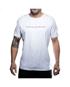 Dunkelschwarz T-Shirt DS-1 LOGO white