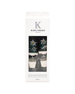 Elastischer Hosenträger Edelweiß schwarz Breite 35mm