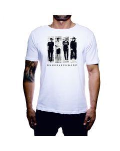 Dunkelschwarz T-Shirt DS-1 FAB white