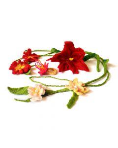 Filzset für Filzblumen und Blumenschmuck