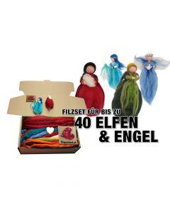 Filzset für 40 Engel und Elfen
