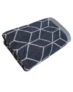 Handtuch Design Prisma 50x100cm - anthrazit