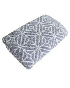 Handtuch Design Raute 50x100cm - graphit