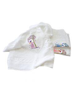 Handtuchserie Coeur weiß mit Stickerei Herzerlbaum