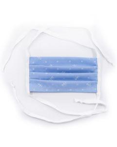 Wollke Gesichtsmaske Dirndl blau
