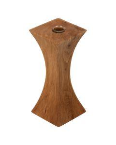Handgefertigte Holz Vase und Kerzenhalter Kombination Eiche 16.5cm