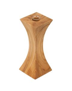 Handgefertigte Holz Vase und Kerzenhalter Kombination Kirsche 16.5cm