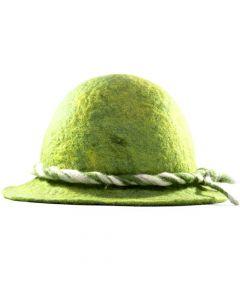 Handgefertigter Filzhut - grün