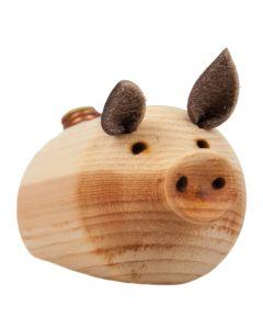 Handgefertigtes Zirben Schwein - Glücksbringer aus Holz