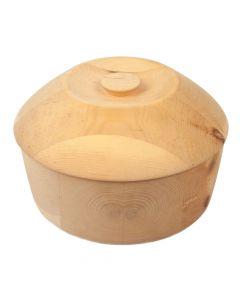 Handgefertigte Zirben Brotdose rund 27.5cm