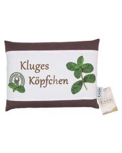 Kluges Köpfchen - Kissen mit wilder Pfefferminze- mit Hülle 30x22cm