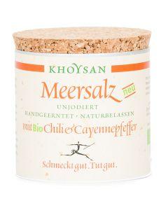 Meersalz mit Bio Chili und Cayennepfeffer Würzdose 200g