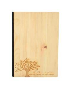 Notizbuch A5 mit Holzcover - Baum des Lebens