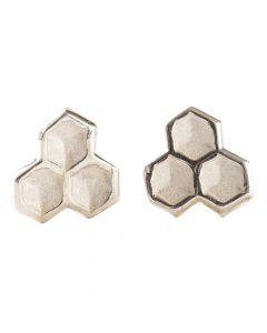 Ohrstecker Bienenwabe - Silber 925