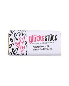 Glücksstück Schokolade Zwetschke mit Birnenbalsamico 65g