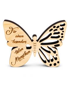 Schmetterling aus Zirbenholz