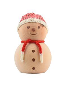 Schneemann aus Zirbenholz 18cm