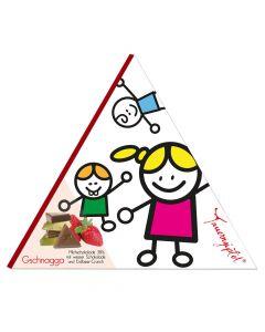 Tauerngipfel Edelschokolade Gschnagga - 38 Prozent 75g