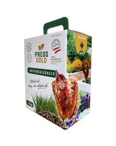 Pressgold Universaldünger organische Hühnermist Pellets 3kg