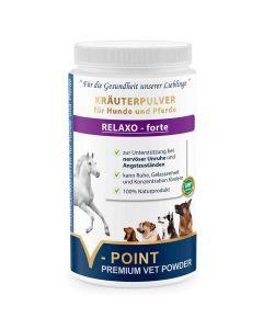 Relaxo forte - Premium Kräuterpulver für Hunde und Pferde 500g