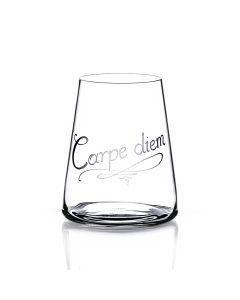 Wasserglas POWER mit Schriftgravur auf Wunsch