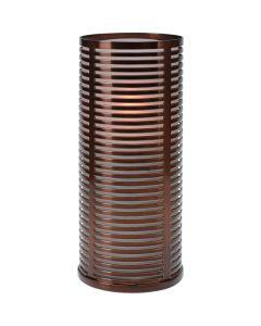 Wiederbefüllbare Tischleuchte Ubi flammbraun - klar 15cm