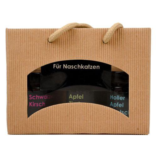 Geschenkbox Für Naschkatzen Fruchtaufstriche 3x155g